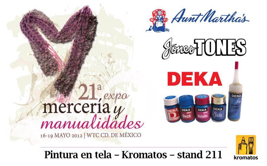 Pintura en tela, Kromatos en Expo Mercería y Manualidades 2012 (stand 211)